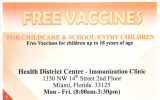 Free or low-cost Immunizations