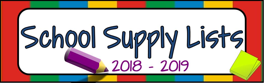Image of School Supply Lists Link