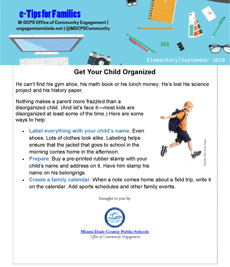 September e-Tips for Families